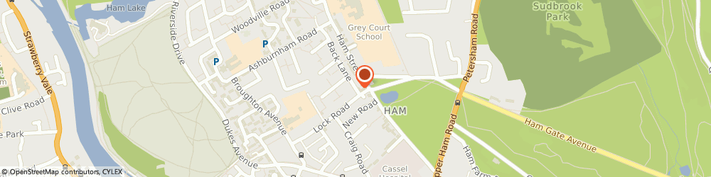Route/map/directions to Meades Hair Studio, TW10 7LF Richmond, 8 BACK LANE