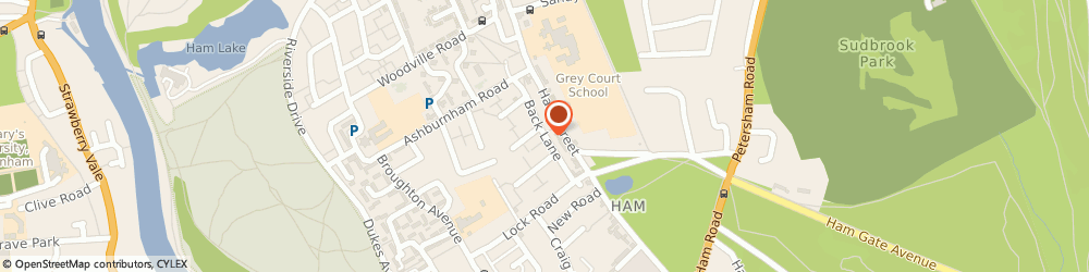 Route/map/directions to Medicaoptima Ltd, TW10 7LF Richmond, 4 Back Lane