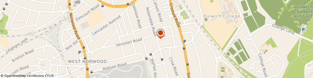 Route/map/directions to Tulse Hill Locksmiths 020 8819 7674, SE21 8EZ London, Rosendale Road