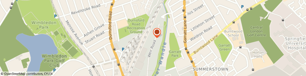 Route/map/directions to Castle Scaffolding Ltd, SW19 8UG London, 63 Weir Rd