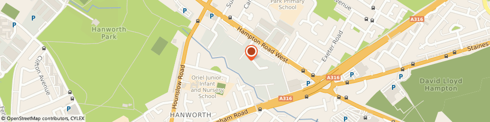 Route/map/directions to Chauffeur One Ltd, TW13 6DH London, Hanworth Trading Estate, Hampton Road West, Unit 24, Legacy House