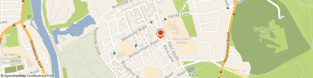 Route/map/directions to Corporate Chauffeurs Uk Ltd, TW10 7NF Richmond, 26 Ashburnham Road