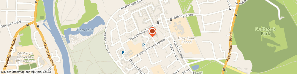 Route/map/directions to Ham United Group Community Interest Company, TW10 7NY Richmond, THE LITTLE HOUSE, HAM CLOSE