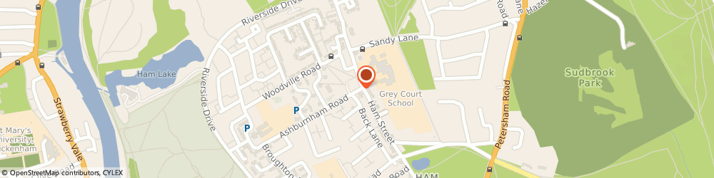 Route/map/directions to Ham Cafe, TW10 7NF Richmond, 8 Ashburnham Rd