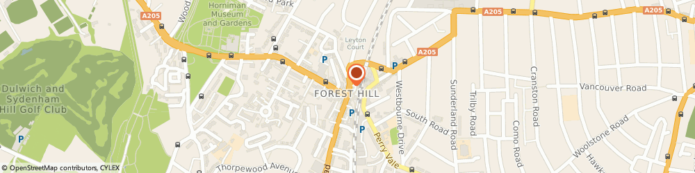 Route/map/directions to Poochie's Bistro Ltd, SE23 3HE London, 3 Devonshire Road