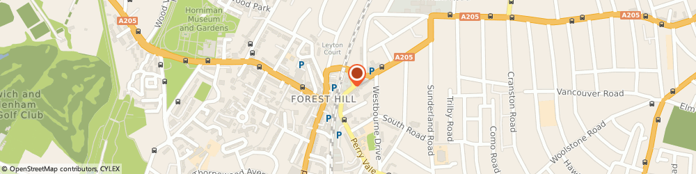 Route/map/directions to Forest Hill Radio Cars, SE23 2LD London, 18-26 Perry Vale