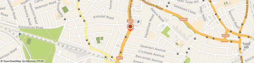 Route/map/directions to DPD Parcel Shop Location - SSJ Mini Mart, SW2 4RD London, 74 Streatham Hill