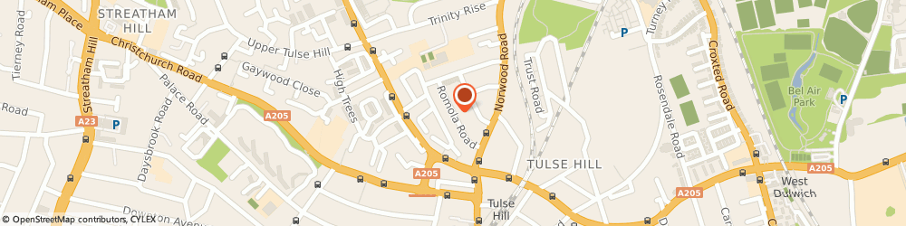 Route/map/directions to Tulse Hill Trusted Local Locksmith, SE24 9EZ London, 22 Romola Road