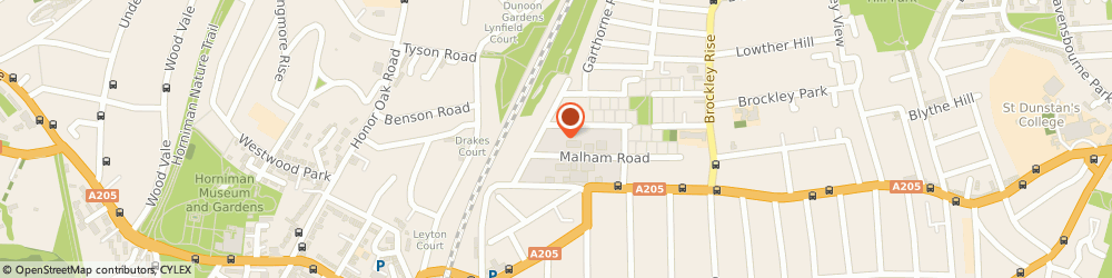 Route/map/directions to All About Fencing, SE23 1AH London, Malham Road Industrial Estate, 1 Malham Rd