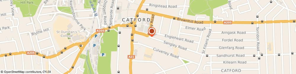 Route/map/directions to Catford Insurance Services, SE6 2JH London, 36 Sangley Rd