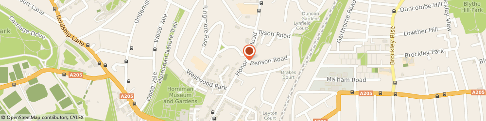 Route/map/directions to Rose Financial Services Ltd, SE23 3RZ London, 44 Honor Oak Road