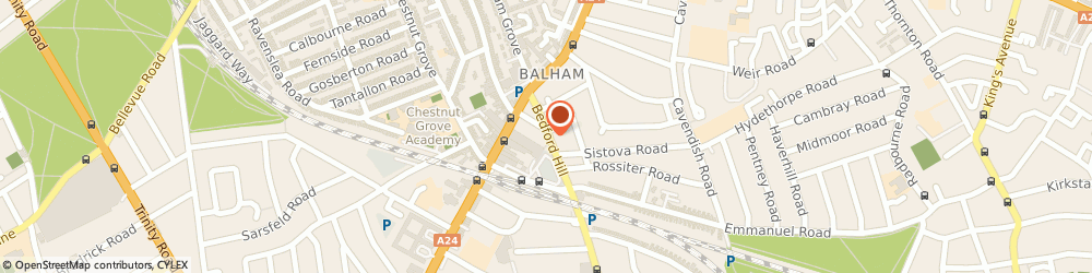 Route/map/directions to Bunka Boutique London, SW12 9RG London, 24 BEDFORD HILL