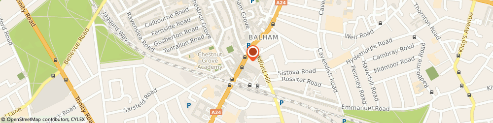 Route/map/directions to First, SW12 9AU London, 133-135, Balham High Rd