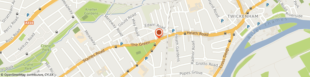 Route/map/directions to Elisabeth Auer, TW2 5AB Twickenham, 20 The Green