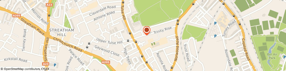Route/map/directions to Brixton Locksmith, SW2 2QP London, Trinity Rise