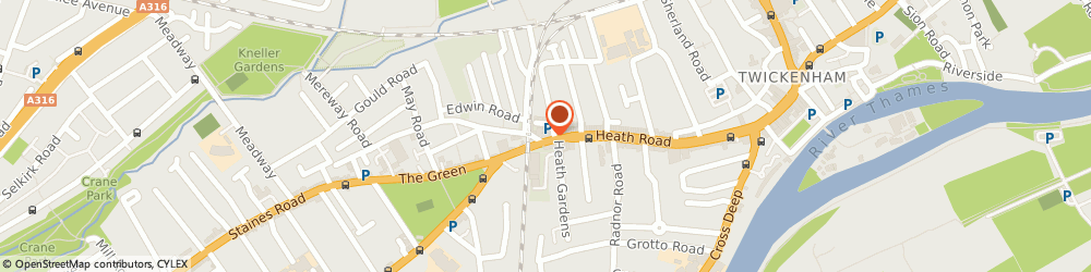 Route/map/directions to Tesco Express, TW1 4BW Twickenham, 166 Heath Rd