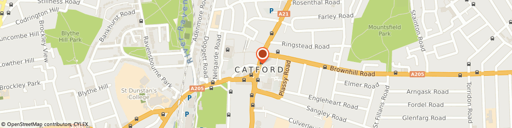 Route/map/directions to Barclays Bank, SE6 4HH London, 166 Rushey Green Catford