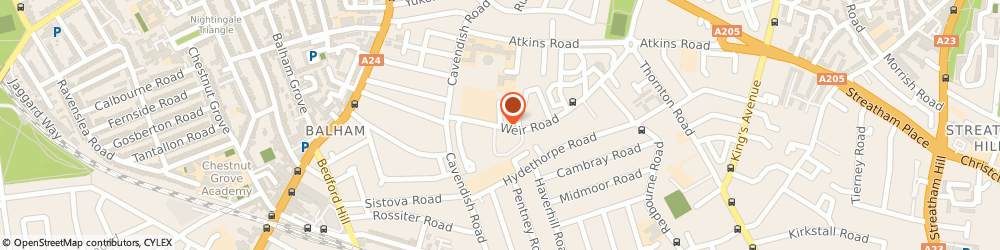 Route/map/directions to Lee Scaffolding, SW12 0LT London, 1 Weir Road