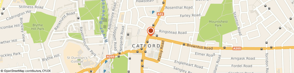 Route/map/directions to Halifax, SE6 4HQ Catford, 144 Rushey Green