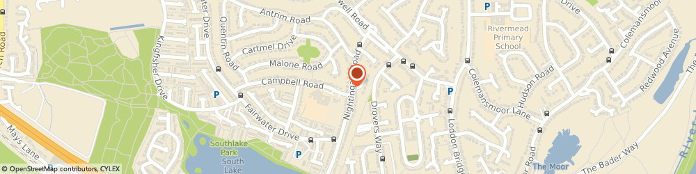 Route/map/directions to Bourne Builders, RG5 3LS Reading, 37 Nightingale Rd