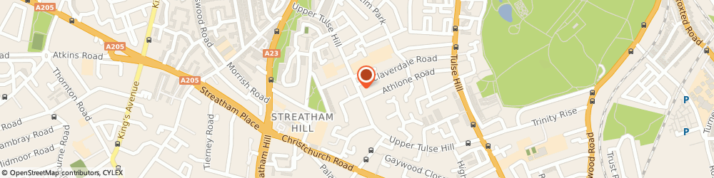 Route/map/directions to Locksmiths Tulse Hill, SW2 2SD London, UPPER TULSE HILL