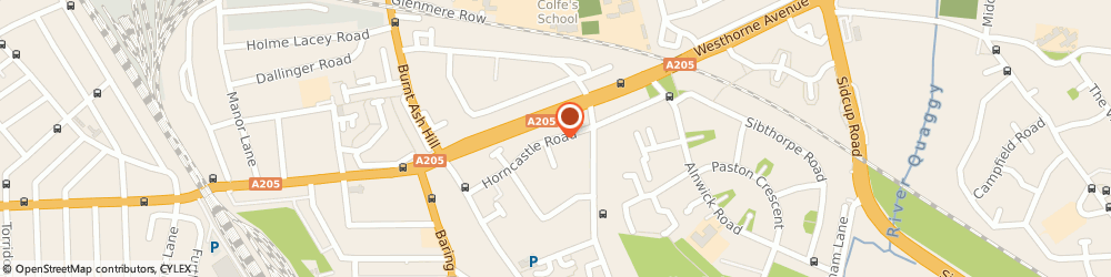 Route/map/directions to M Sylver, SE12 9LG London, 51 Horncastle Road