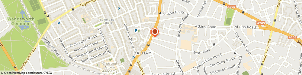 Route/map/directions to Bhakti Shyama Care Centre, SW12 9PH London, 1 Balham New Road