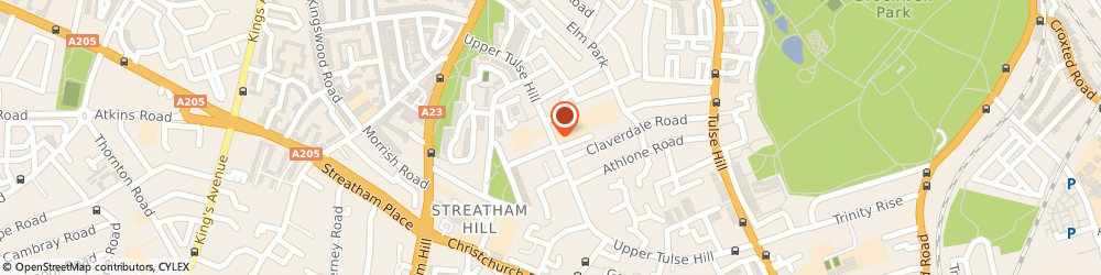 Route/map/directions to Juval Forwarders, SW2 2RW London, 72 UPPER TULSE HILL