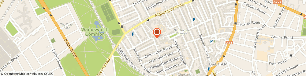 Route/map/directions to Valerie Moore Consultancy, SW12 8SN London, 50 MAYFORD RD