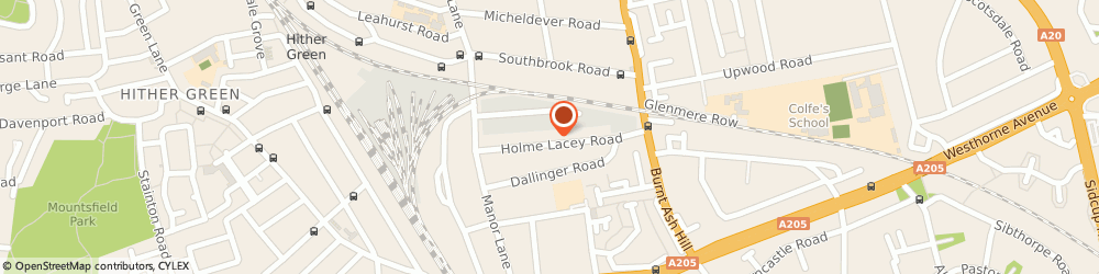 Route/map/directions to Travis Perkins, SE12 0HR London, Holme Lacey Road