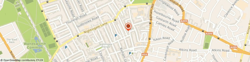 Route/map/directions to Liz Freeman, SW12 8BL London, 74 BADMINTON ROAD