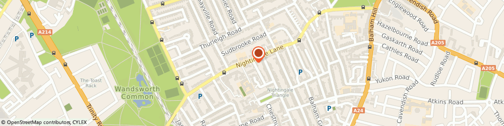 Route/map/directions to The Nightingale, SW12 8NX London, 97 Nightingale Lane