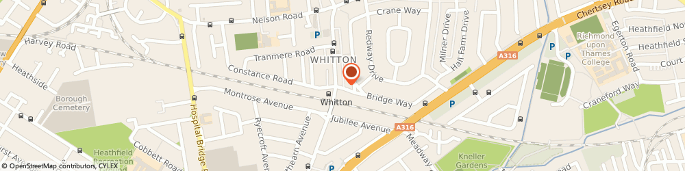 Route/map/directions to Whitton Car Audio, TW2 7LD Twickenham, 113A High St