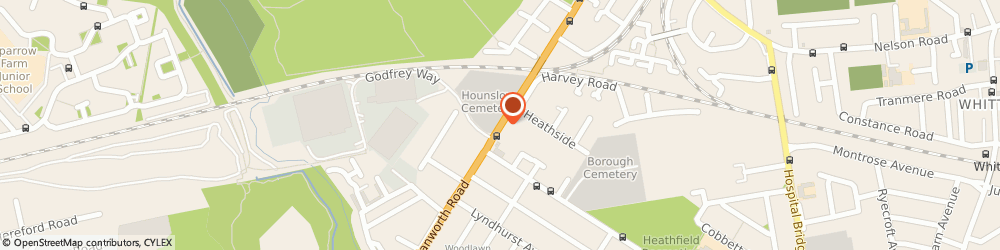 Route/map/directions to Golden Carp, TW4 5NP Hounslow, 654 HANWORTH ROAD