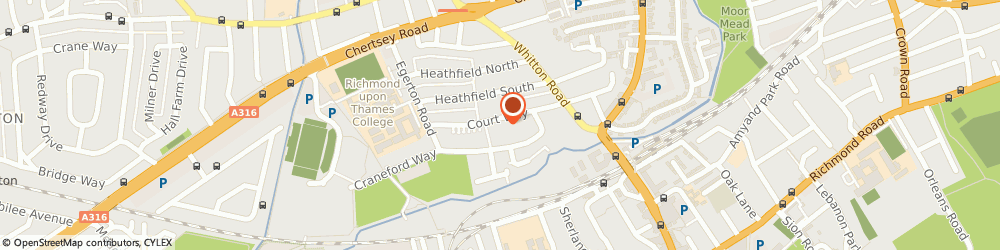 Route/map/directions to Twickenham Therapy & Supervision, TW2 7SA Twickenham, Court Way