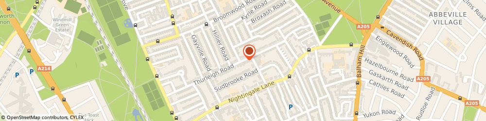 Route/map/directions to Metropolitan Brands Limited, SW12 8UD London, 78 THURLEIGH ROAD