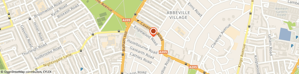 Route/map/directions to C r Associates, SW12 9PB London, 53 ENGLEWOOD ROAD
