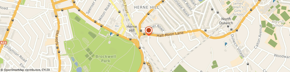 Route/map/directions to Mimosa, SE24 9HU London, 16 Half Moon Ln, Herne Hill