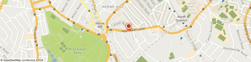 Route/map/directions to Decorating Masters Limited, SE24 9HU London, 36 HALF MOON LANE