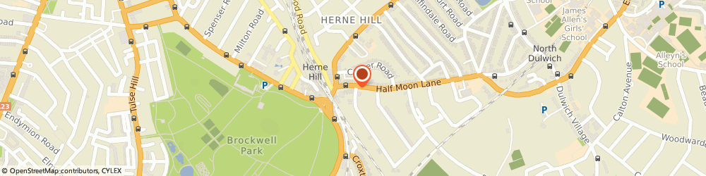 Route/map/directions to Herne Hill Locksmiths, SE24 9HU London, 20-24 Half Moon Ln