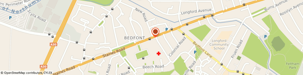 Route/map/directions to West London Suzuki Ltd, TW14 8BP Feltham, 531 Staines Road
