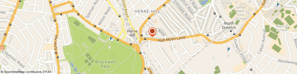 Route/map/directions to Kindred Bakery, SE24 9JU London, 23 Half Moon Ln