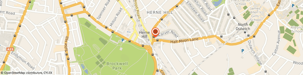 Route/map/directions to Intersport, SE24 9QL London, 134a, Herne Hill