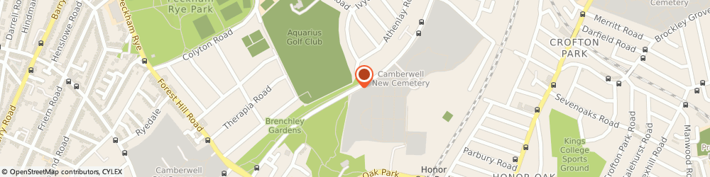 Route/map/directions to L.b.s Cemeteries & Crematoria, SE23 3RD London, BRENCHLEY GARDENS