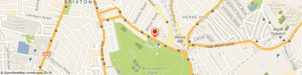 Route/map/directions to Optician, SE24 0PB London, Dulwich Road