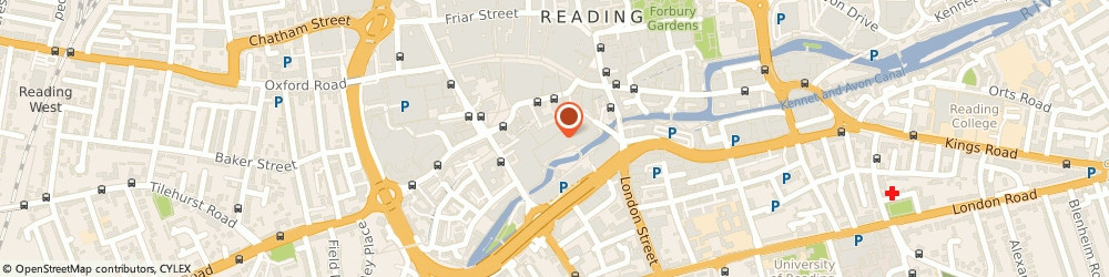 Route/map/directions to Debenhams, RG1 2AG Reading, The Oracle Shopping Centre