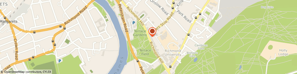Route/map/directions to Canyon Restaurant, TW10 6UJ Richmond, Toepath Riverside, Richmond Bridge