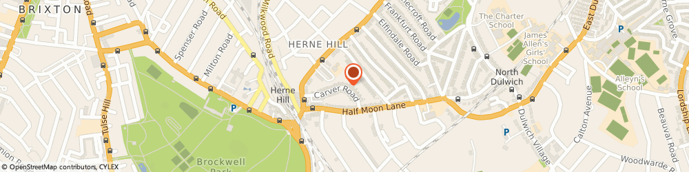 Route/map/directions to Licorice Design, SE24 9LS London, 25 Carver Road
