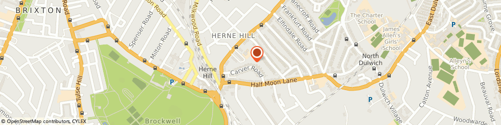 Route/map/directions to Herne Hill Locksmiths, SE24 9LS London, Carver Road