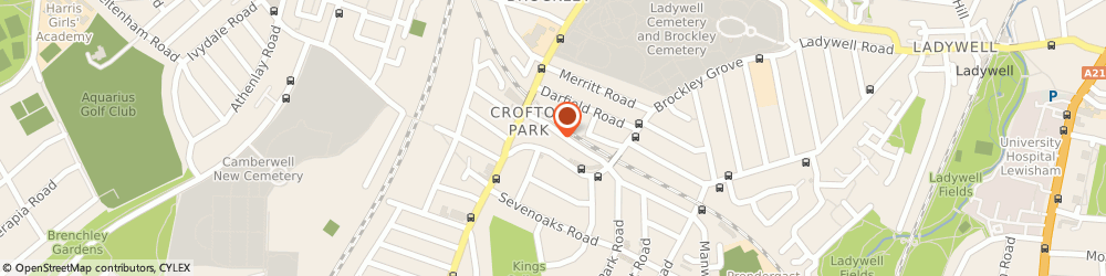 Route/map/directions to Crofton Park Cars Ltd, SE4 1EU London, 1A Marnock Road